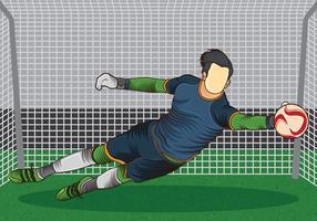 Ação Goal Keeper vetor
