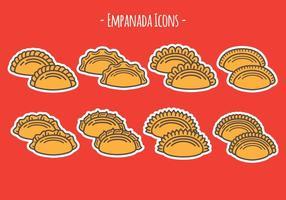 Ícones de Empanada vetor