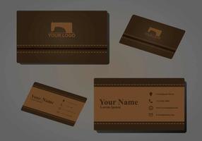 Costurar a ilustração do namecard vetor