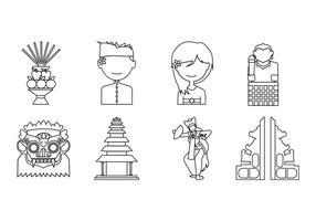 Vector grátis de ícones de Bali