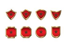 Ícone da bandeira de Marrocos Vector Set