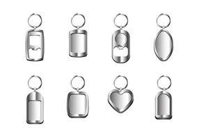 Vetores de prata chaveiro