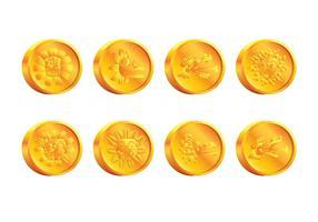 Vetor de moeda quetzalcoatl