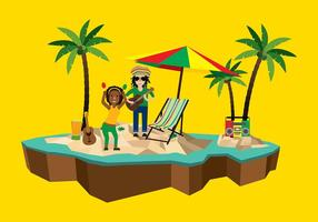 Dread reggae beach free vector