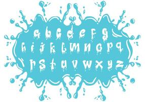 Set of Water Alphabet Lowercase vetor