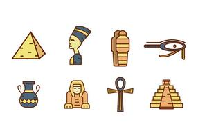 Vetor antigo egípcio antigo