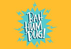 Letra Bug Hum Bug vetor
