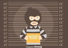 Fundo Mugshot com vetor ladrão