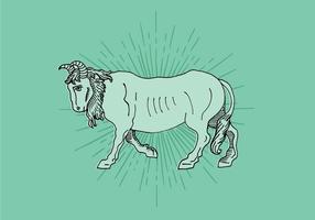 Desenho de linha de boi vetor