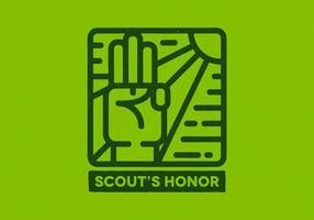 Emblema de honra do escoteiro vetor