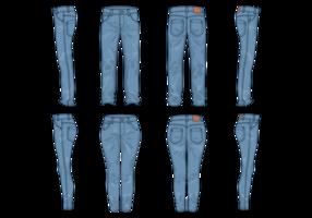 Vetor calça azul