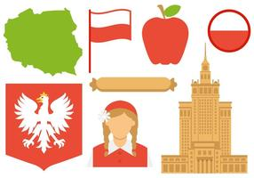Vetor livre de ícones da Polônia
