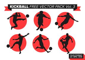 Kickball pacote vetorial grátis vol. 3 vetor