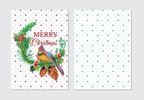 Watercolor Free Vector Christmas Card