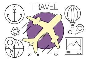 Ícones de viagens grátis vetor
