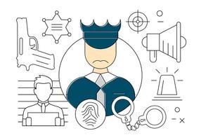 Ícones gratuitos da polícia vetor
