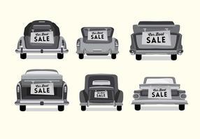 Vetor de inicialização do carro vintage