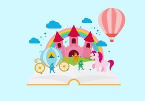 Ilustração gratuita do vetor do livro de histórias