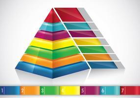 Conceito Infográfico de Piramide vetor