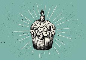 Fundo de muffin desenhado mão vintage vetor