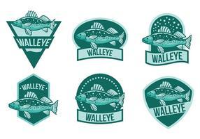 Vetor de ícones de walleye grátis