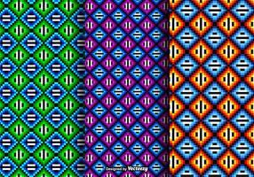 Padrões vetoriais coloridos coloridos de Huichol