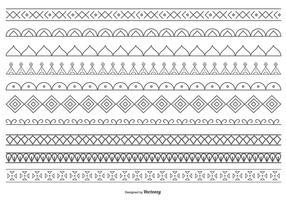 Coleção decorativa linda de bordas vetoriais vetor