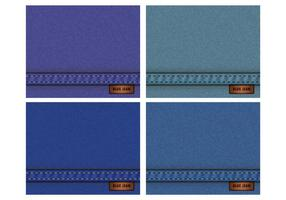 Textura De Azul De Jean vetor