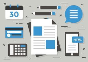 Ilustração vetorial livre do marketing digital vetor
