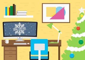 Espaço de trabalho livre de vetores de Natal