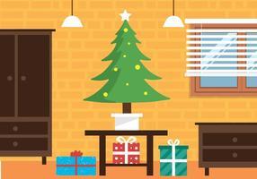 Interior de vetores de Natal grátis
