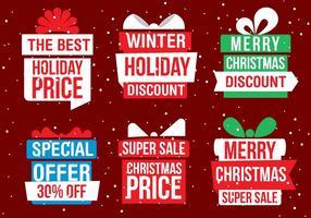 Caixas de presente de Natal grátis para vetores