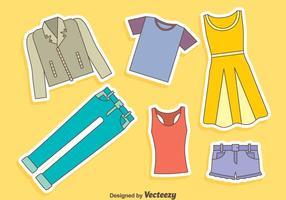 Conjunto de vetores de moda casual