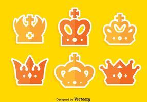 Vetor de coleção de coroa britânica