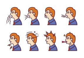 Ilustrações de doença livre e aflição