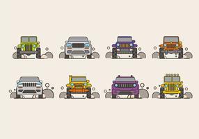 Ilustração vetorial de SUV Car ou Jeep vetor
