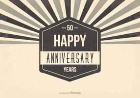 Ilustração do 50º aniversário vetor