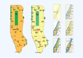 Mapa gratuito de Manhattan vetor