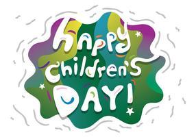 Faixa vetorial gratuita do dia do dia das crianças vetor