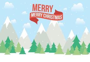 Paisagem livre do vetor do Natal