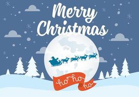 Paisagem livre da noite do Natal do vetor
