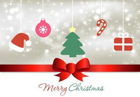 Cartão e elementos de Natal do vetor Bokeh