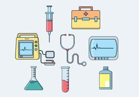 Vector de equipamentos médicos gratuitos