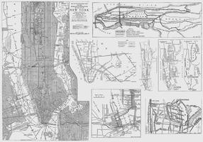Mapas de Nova York vetor