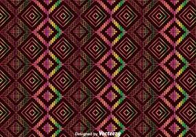 Padrão colorido do ornamento de Huichol étnico