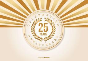 Ilustração bonita do aniversário de 25 anos vetor