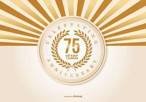 Ilustração bonita do aniversário de 75 anos vetor