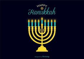 Ilustração vetorial vela vela hanukkah