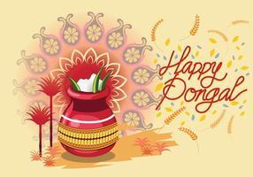Ilustração vetorial de Happy Pongal Celebration Background vetor