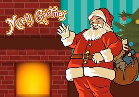 Feliz Natal, vetor de Santa